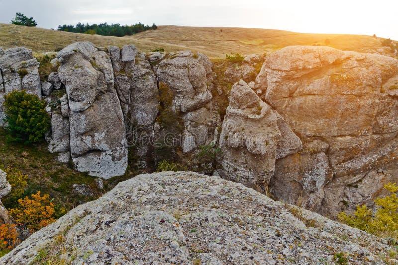 Landschaftspanorama-Gebirgsherbst stockfotografie