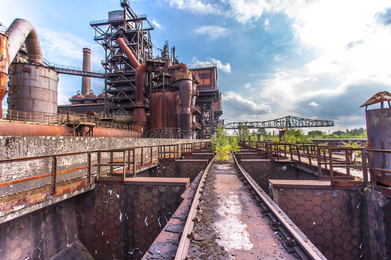 Landschaftspark Duisburg Nord royalty free stock photo