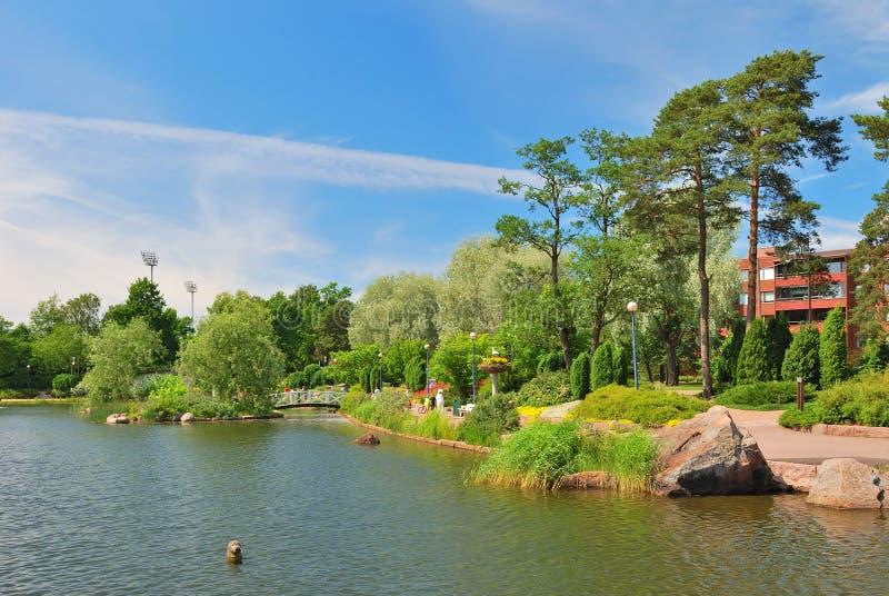 Landschaftspark Sapokka in Kotka, Finnland lizenzfreie stockfotografie