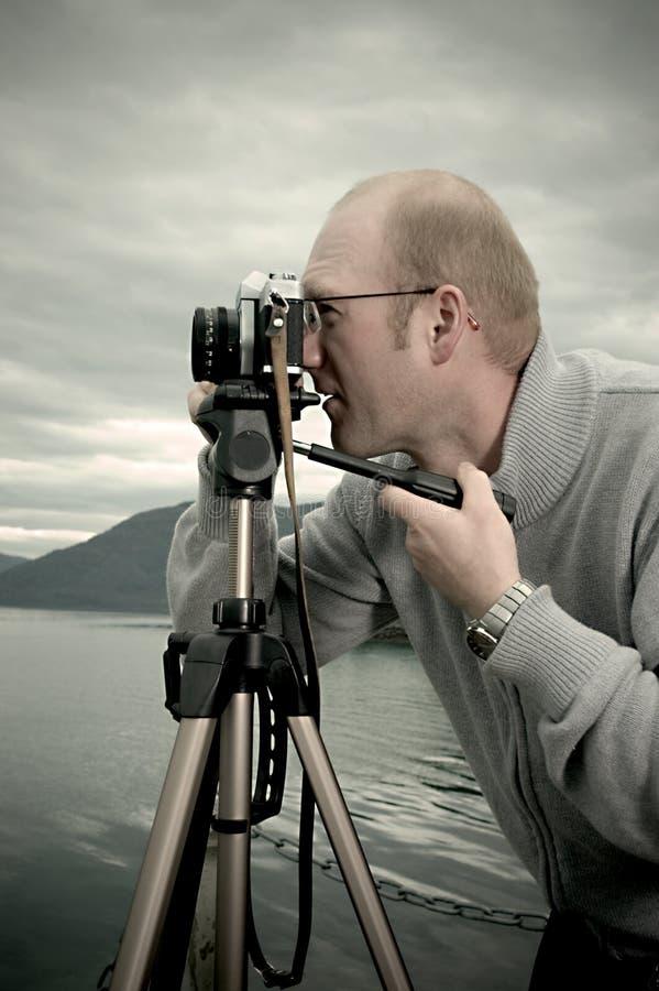 Landschaftsphotograph stockfotos
