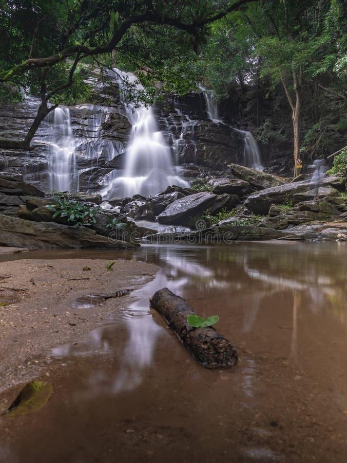 Landschaftsungesehene Thailand-Wasserfallnaturansicht lizenzfreies stockbild