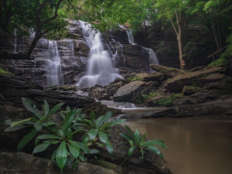 Landschaftsungesehene Thailand-Wasserfallnaturansicht lizenzfreie stockfotografie