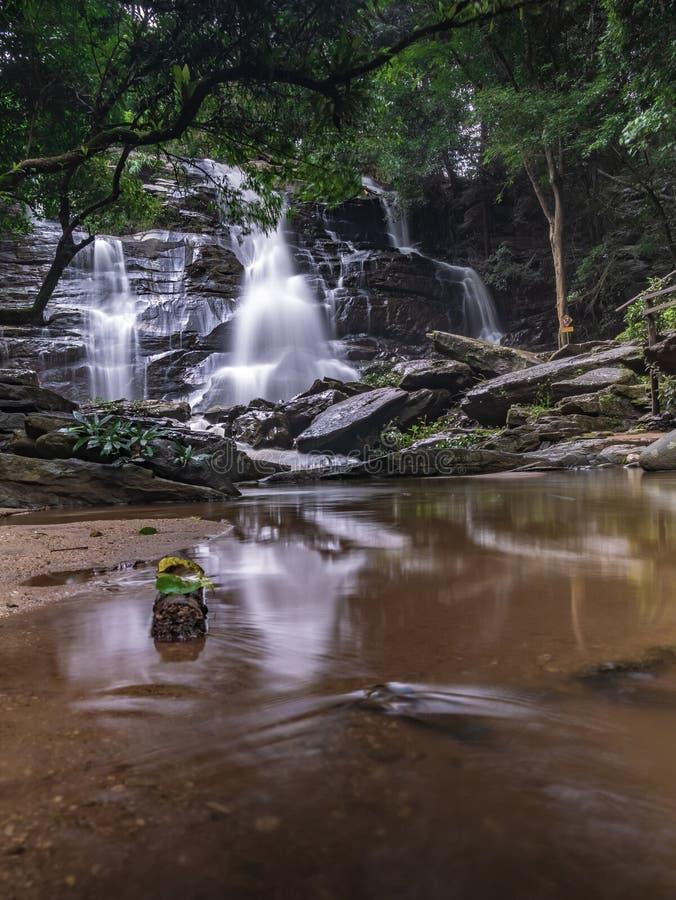 Landschaftsungesehene Thailand-Wasserfallnaturansicht lizenzfreie stockbilder
