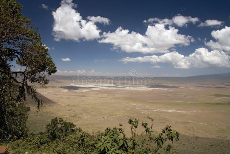 Landschap 010 van Afrika ngorongoro royalty-vrije stock fotografie
