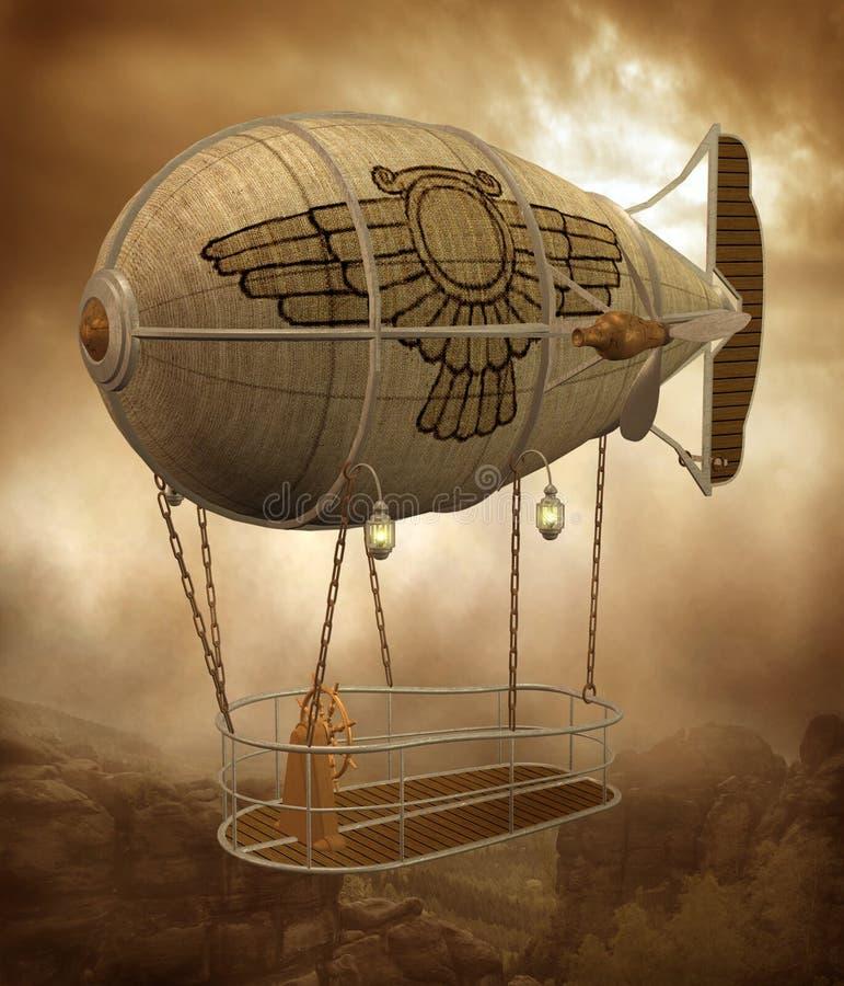 Landschap 1 van Steampunk royalty-vrije illustratie