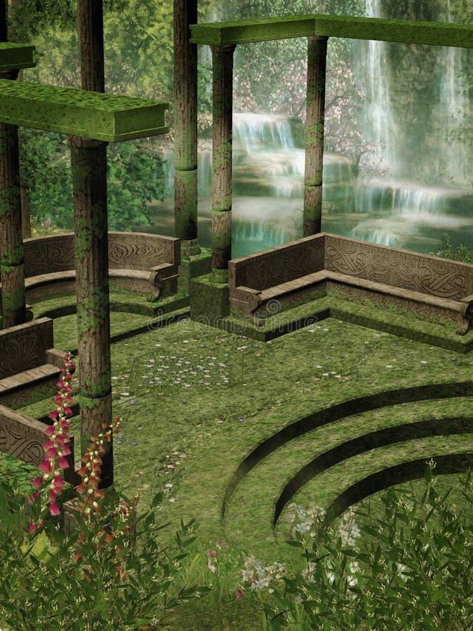 Landschap 108 van de fantasie vector illustratie