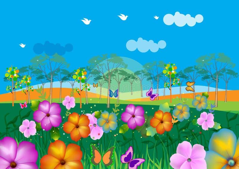 Landschap stock illustratie