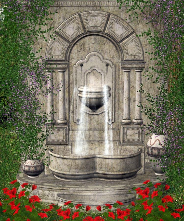 Landschap 114 van de fantasie royalty-vrije illustratie