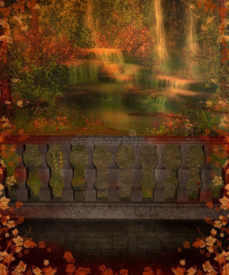 Landschap 19 van de fantasie royalty-vrije illustratie
