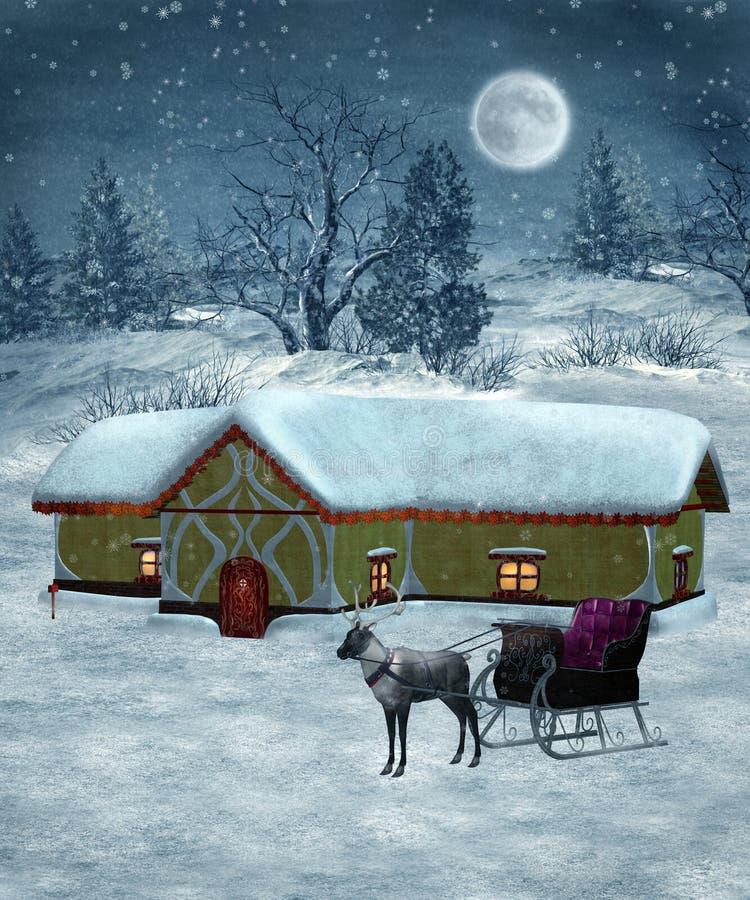 Landschap 28 van de winter royalty-vrije illustratie