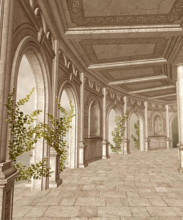Landschap 30 van de fantasie vector illustratie