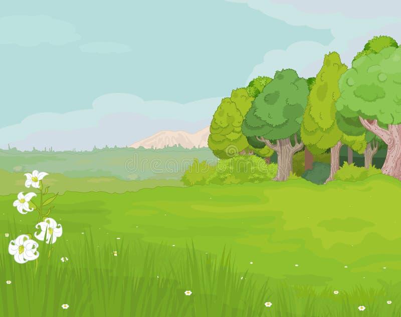 Landschap vector illustratie