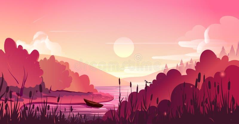 Landschap, aard vectorachtergrond vector illustratie