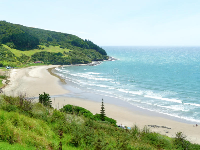 Landschap in Ahipara Nieuw Zeeland royalty-vrije stock fotografie
