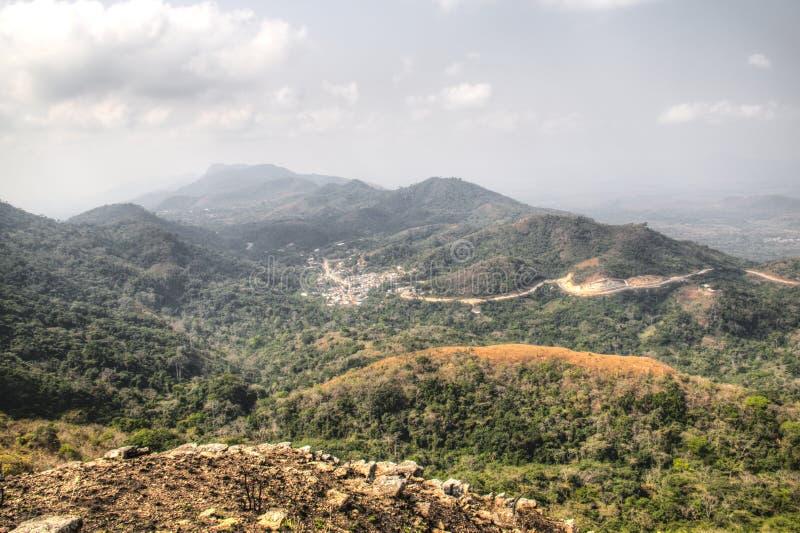 Landschap in Amedzofe, het Gebied van Volta, Ghana royalty-vrije stock afbeeldingen