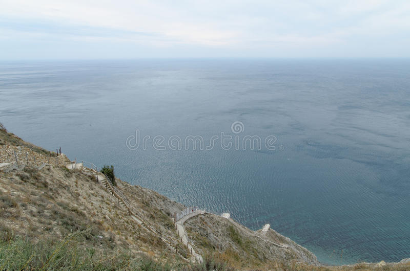 Landschap in Anapa stock afbeeldingen