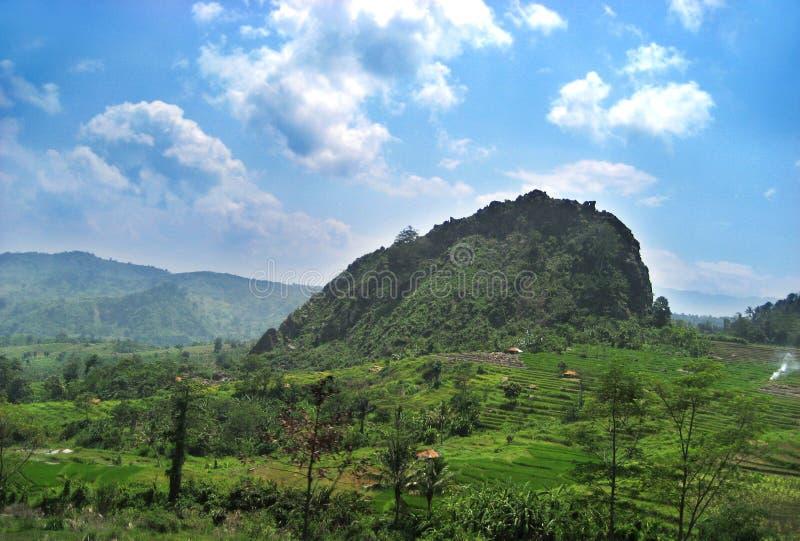 Landschap in Bandung royalty-vrije stock afbeeldingen