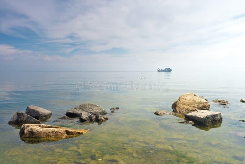 Landschap bij Meer Baikal royalty-vrije stock foto