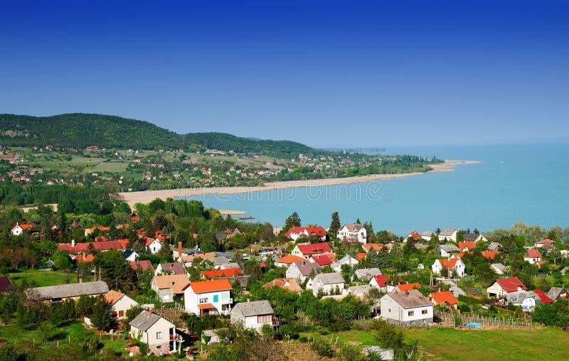 Landschap bij Meer Balaton, Hongarije royalty-vrije stock foto