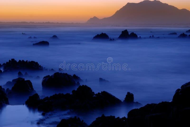 Landschap bij nacht. royalty-vrije stock fotografie