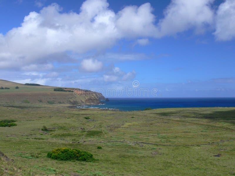 Landschap bij Pasen eiland stock foto