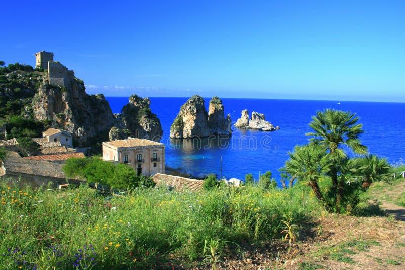 Landschap, Blauwe Mediterraneo royalty-vrije stock afbeeldingen