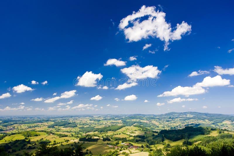 Landschap in Bourgondië royalty-vrije stock afbeelding