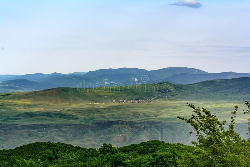 Landschap, de Kaukasus, Azerbeidzjan royalty-vrije stock foto's