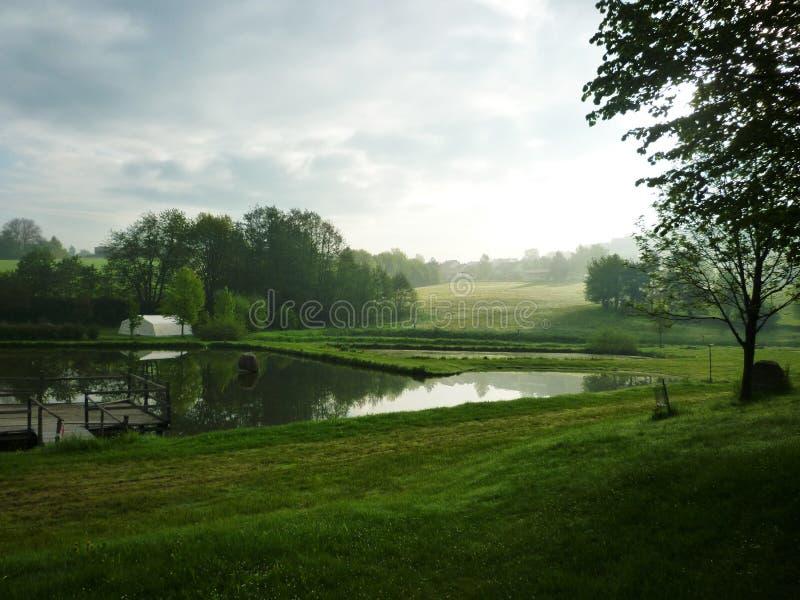 Landschap in de ochtend royalty-vrije stock foto