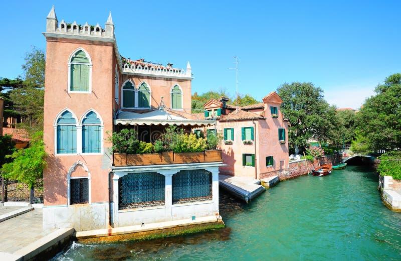 Landschap in de openbare tuinen van Venetië stock foto's