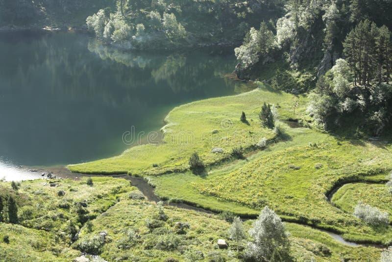 Landschap in de Pyreneeën royalty-vrije stock fotografie