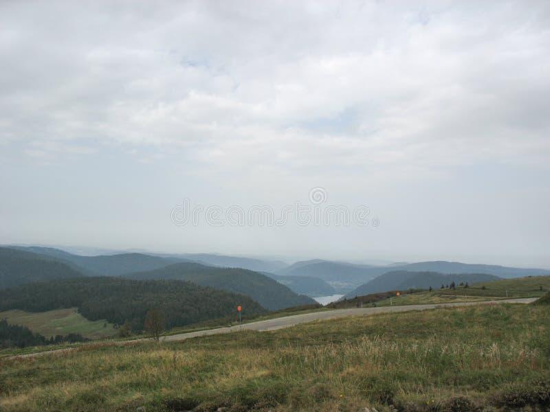 Landschap in de Vogezen en Ballon d'Alsace royalty-vrije stock afbeelding