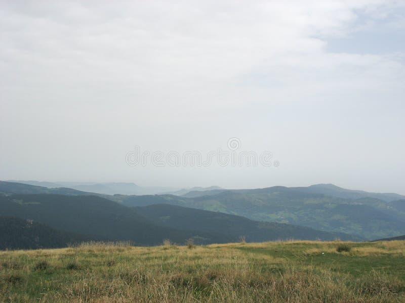 Landschap in de Vogezen en Ballon d'Alsace stock afbeeldingen