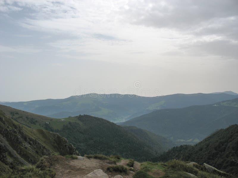 Landschap in de Vogezen en Ballon d'Alsace stock foto's