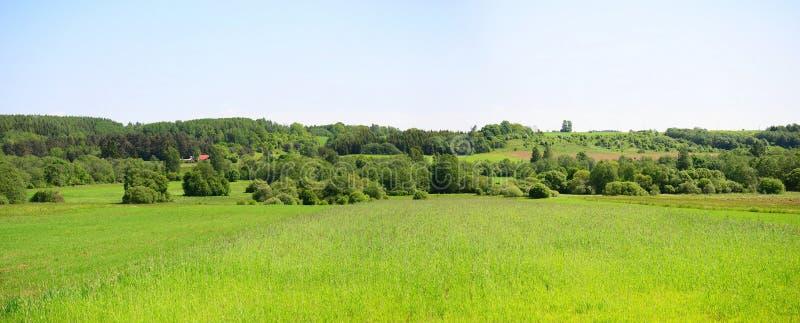 Landschap dichtbij Kurkliai-stad in het Anyksciai-district royalty-vrije stock fotografie