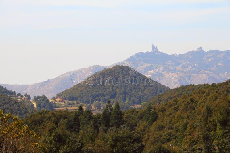 Landschap dichtbij Minerale del chico I stock fotografie