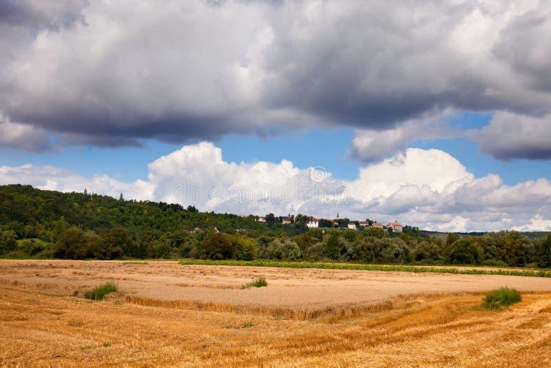 Landschap in Dorndorf stock afbeelding
