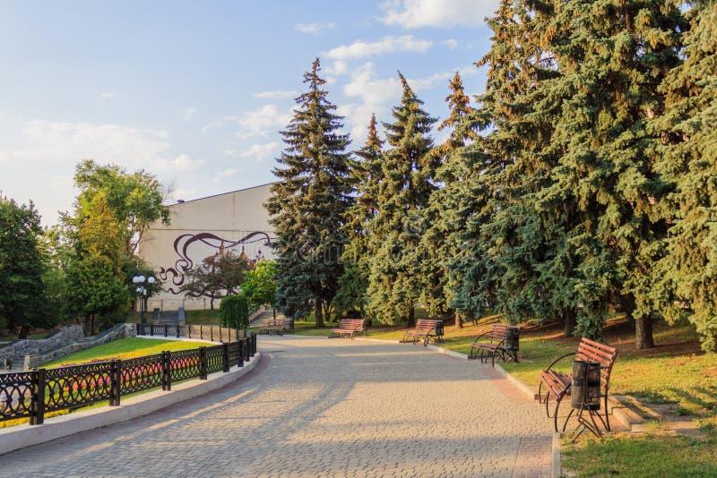 Landschap in een stadspark royalty-vrije stock fotografie