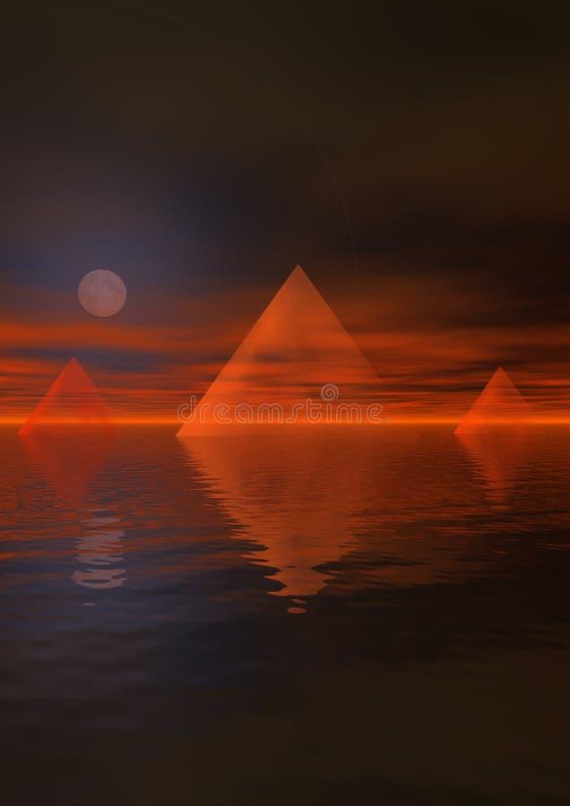 Landschap Egypte stock illustratie