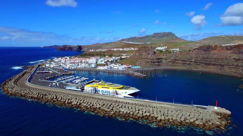 Landschap en mening van mooi Gran Canaria bij Canarische Eilanden, Spanje stock foto's