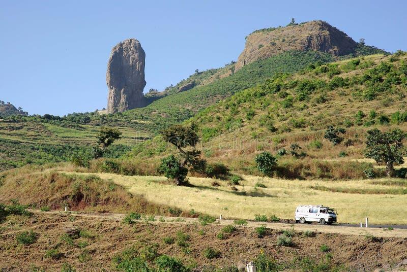 Landschap in Ethiopië stock afbeeldingen