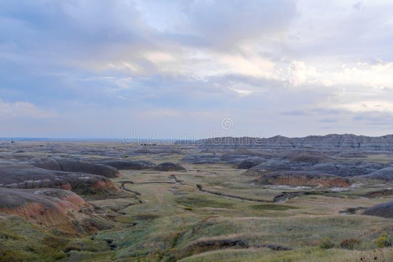 Landschap in het Nationale Park van Badlands, Zuid-Dakota stock foto