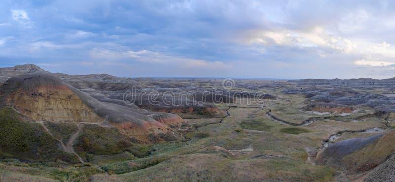 Landschap in het Nationale Park van Badlands, Zuid-Dakota stock foto's
