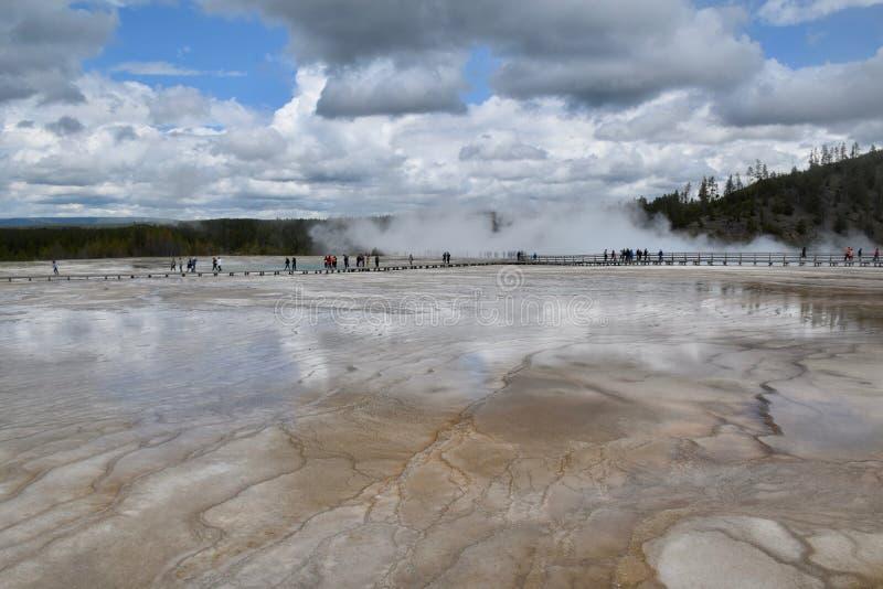 Landschap in het Nationale Park van Yellowstone en het Domein, de V.S. royalty-vrije stock afbeelding