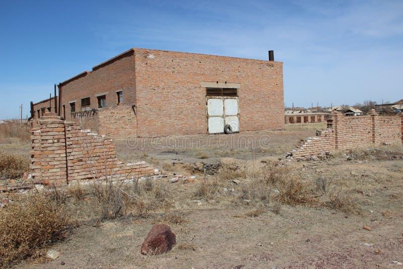 Landschap, huizen stock afbeelding