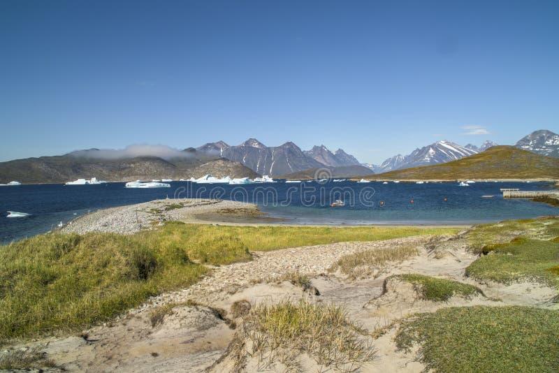 Landschap, Ijsbergen in Groenland stock foto