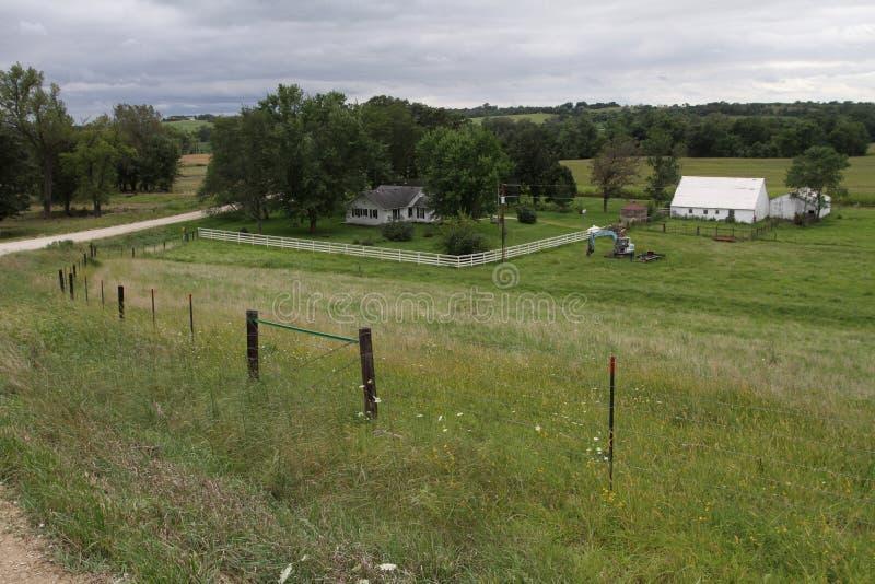 Landschap Iowa Farm stock fotografie