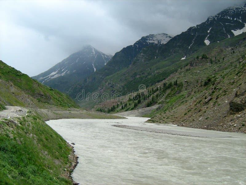 Landschap in ladakh-3 royalty-vrije stock foto