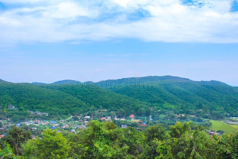 Landschap landelijk in Chiang Mai, Thailand royalty-vrije stock foto
