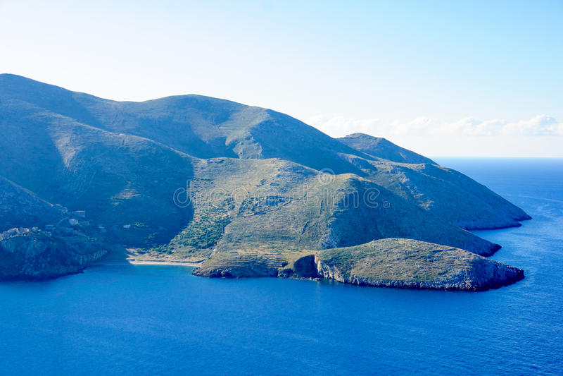 Landschap in Mani Peninsula stock fotografie